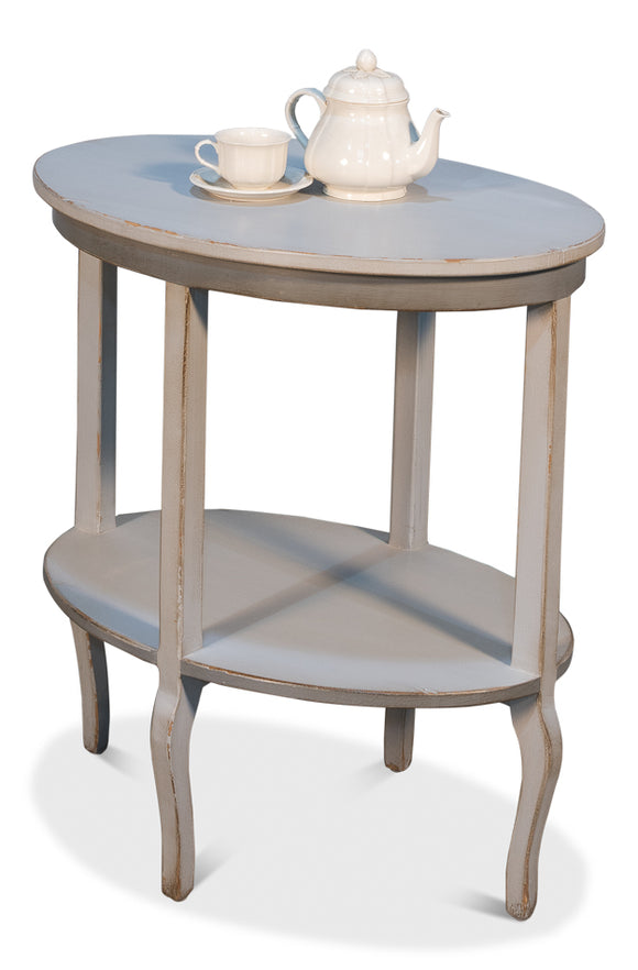GREY TRADITIONAL SIDE TABLE
