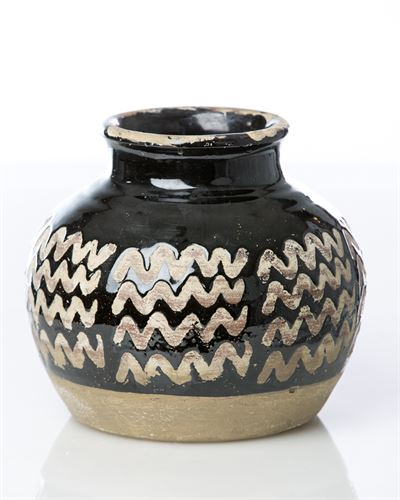 VINCI MOROCCAN CERAMIC SHORT VASE - Donna's Home Furnishings in Houston