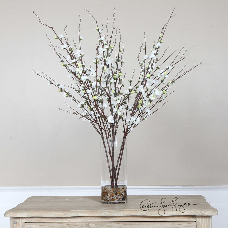 QUINCE BLOSSOMS SILK CENTERPIECE - Donna's Home Furnishings in Houston