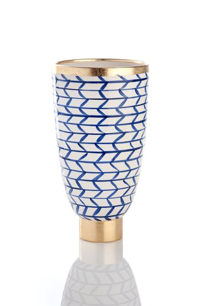 CONTEMPO COLLECTION GEOMETRIC VASE - Donna's Home Furnishings in Houston