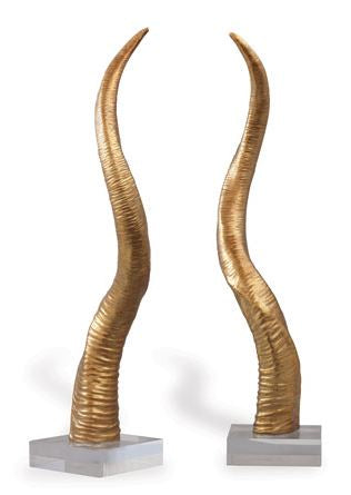 SAFARI GOLD HORN SCULPTURE - Donna's Home Furnishings in Houston