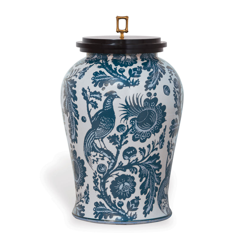 Arcadia Indigo Jar - Donna's Home Furnishings in Houston