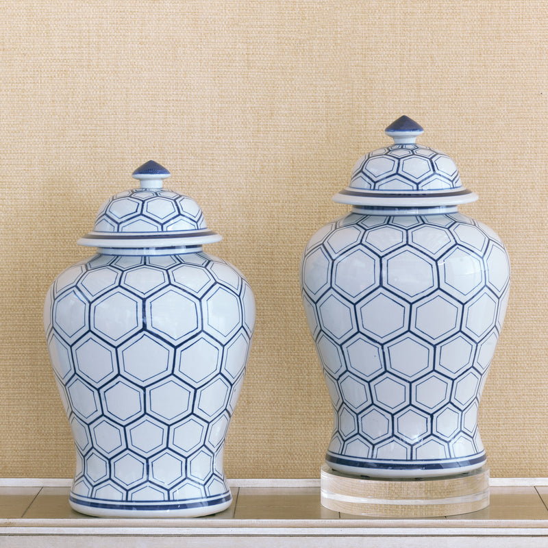 Kenilworth Blue Jar - Donna's Home Furnishings in Houston