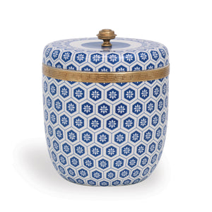 KENILWORTH BLUE ROUND BOX - Donna's Home Furnishings in Houston