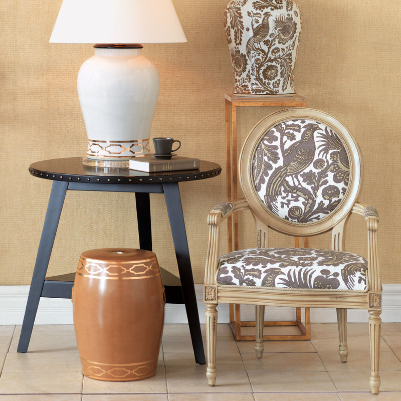 PAVILLION BROWN GARDEN STOOL - Donna's Home Furnishings in Houston