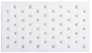ALICE BATH RUG 20X31 WHITE - Donna's Home Furnishings in Houston
