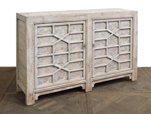 LATTICE TWO DOOR CABINET