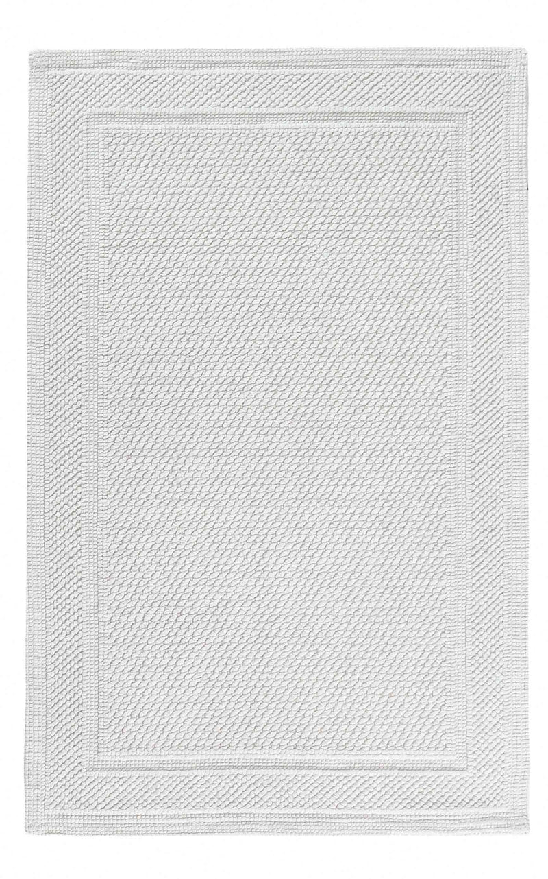 BEE WAFFLE RUG 22X43 WHITE - Donna's Home Furnishings in Houston