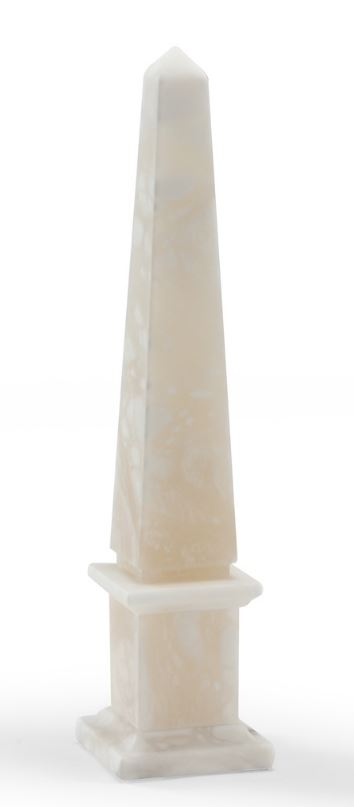 ALABASTER OBELISK SCULPTURE