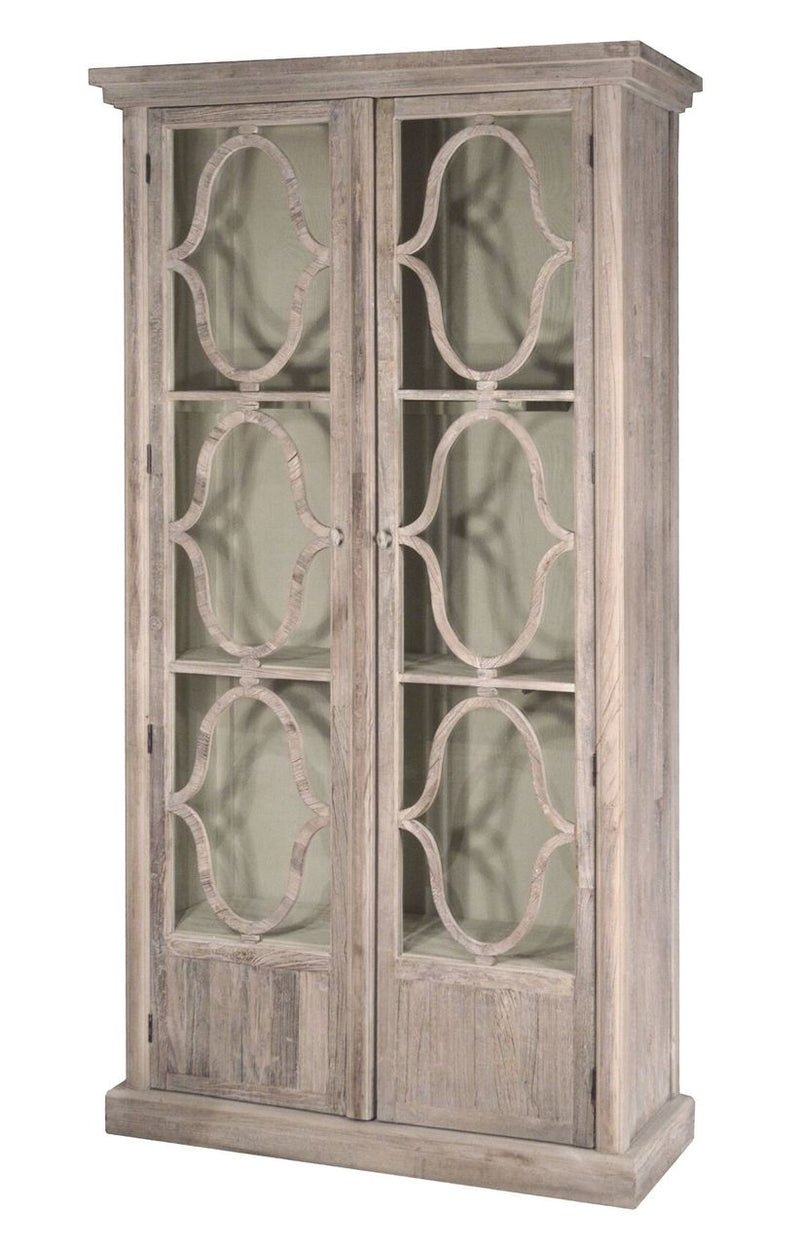 2 DOOR GLASSS CABINET - Donna's Home Furnishings in Houston