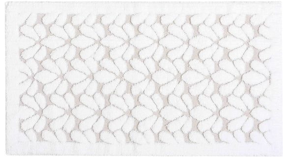 GRACE BATH RUG 20X31 WHITE - Donna's Home Furnishings in Houston