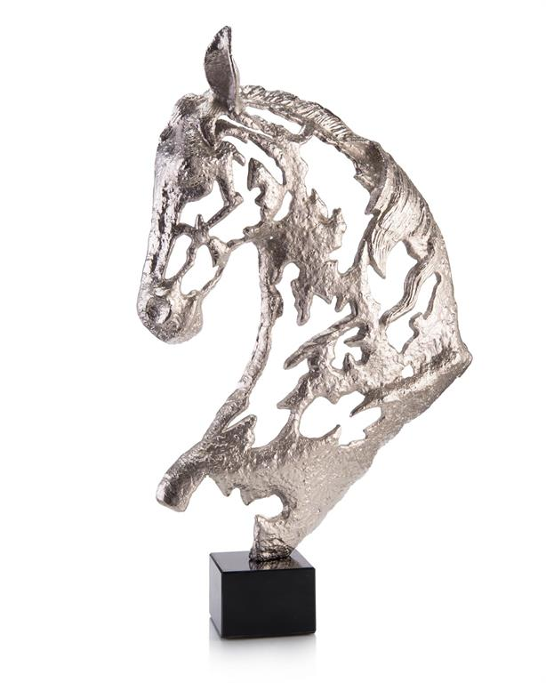 NICKLE HORSE HEAD - Donna's Home Furnishings in Houston