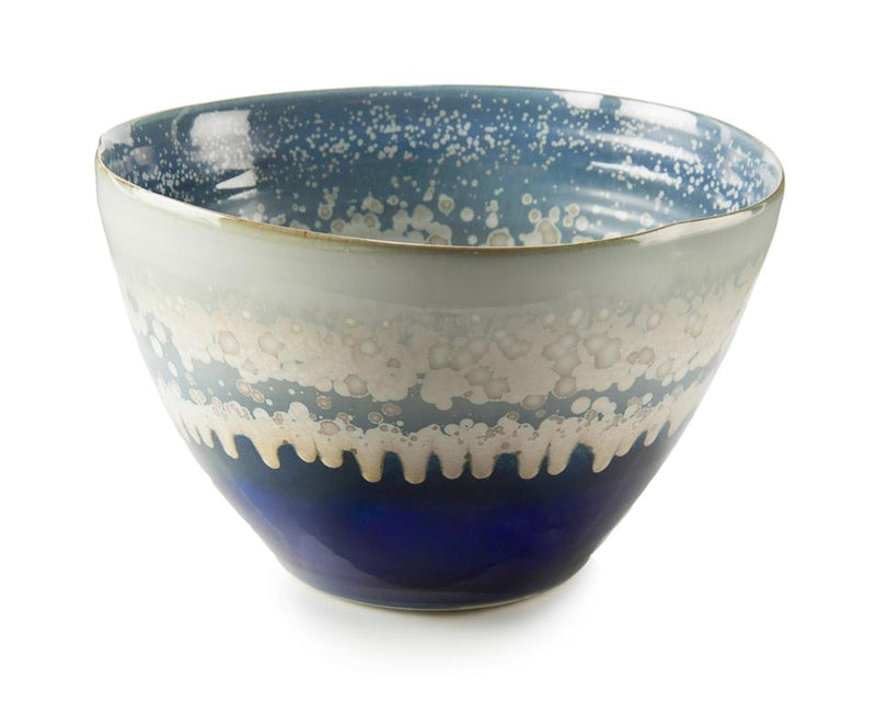 REACTIVE BLUE/CREAM BOWL - Donna's Home Furnishings in Houston