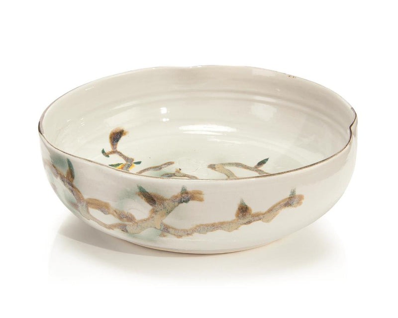 Twigs and Teal Bowl l