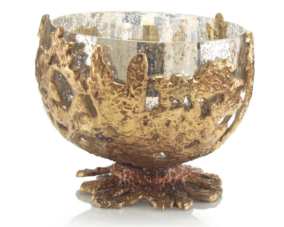CASTING GLASS BOWL - Donna's Home Furnishings in Houston