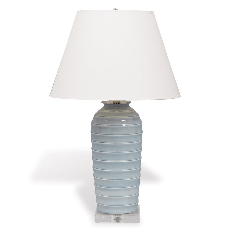 Playa Lamp Smoke - Donna's Home Furnishings in Houston