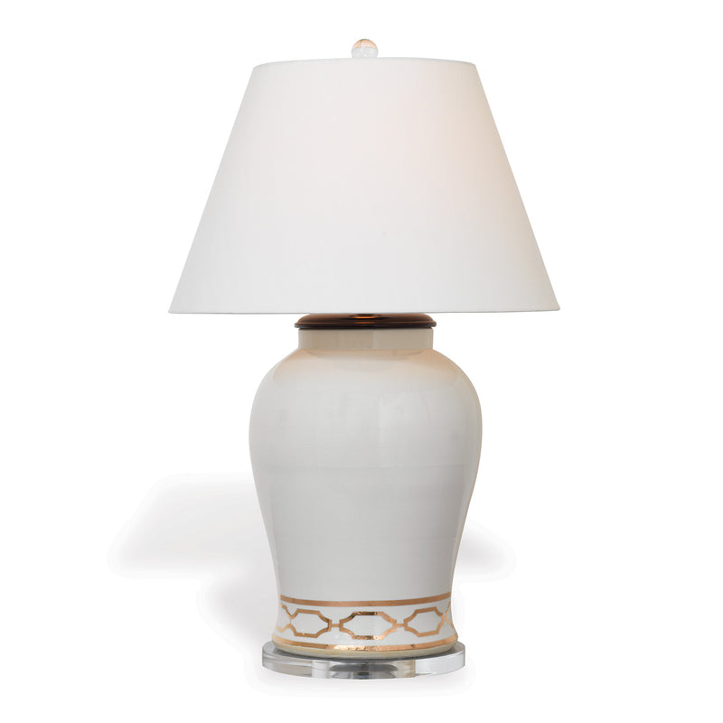 Pavillion White Lamp - Donna's Home Furnishings in Houston
