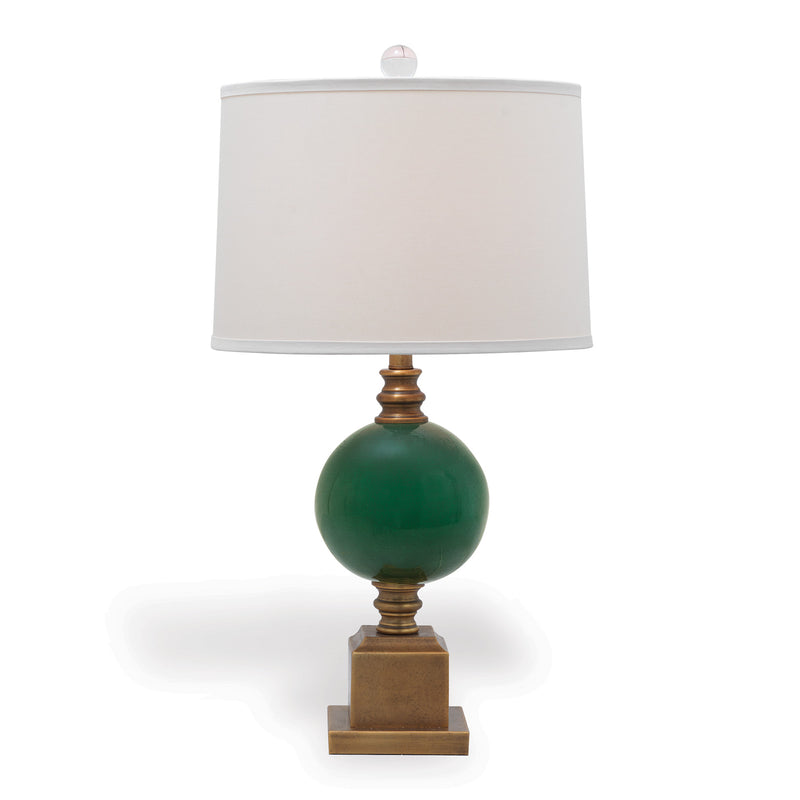 Rutherford Emerald Lamp - Donna's Home Furnishings in Houston
