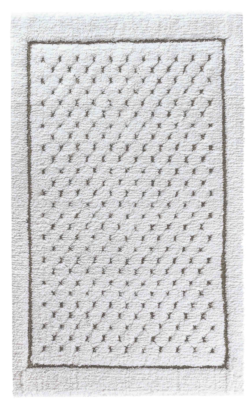 LINEN WAFFLE BATH RUG 20X31 WHITE - Donna's Home Furnishings in Houston