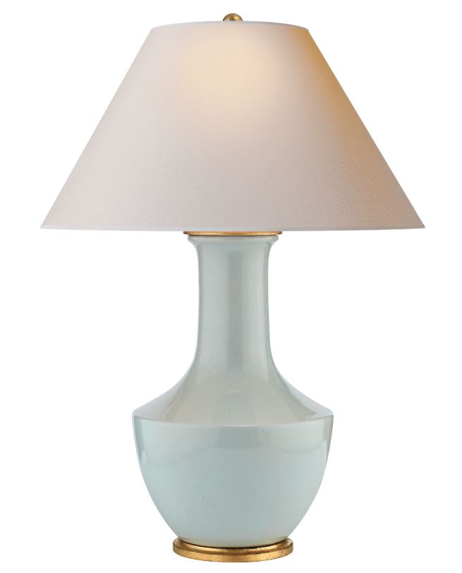 LAMBAY ICE BLUE LAMP - Donna's Home Furnishings in Houston
