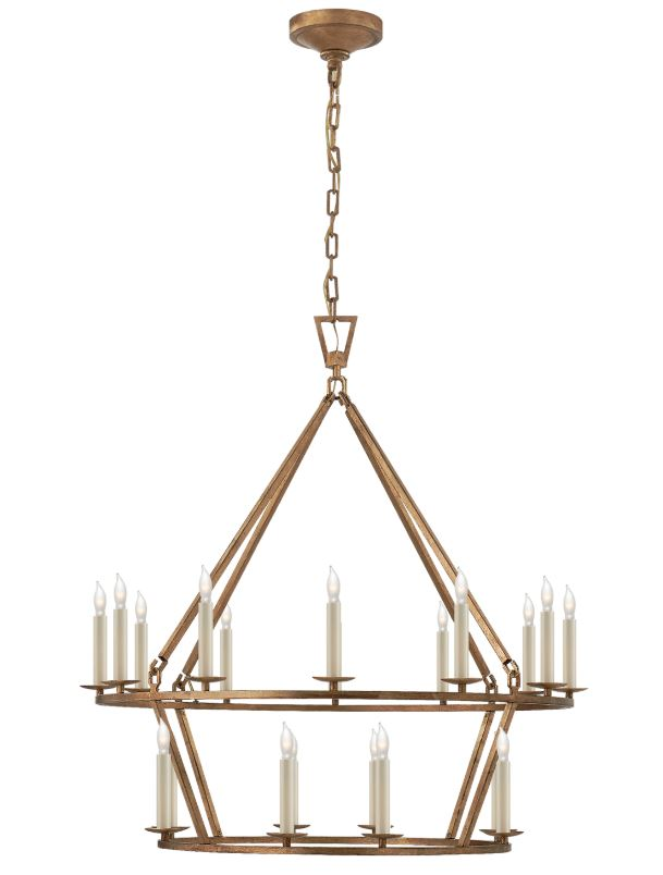 DARLANA TWO TIER CHANDELIER - Donna's Home Furnishings in Houston
