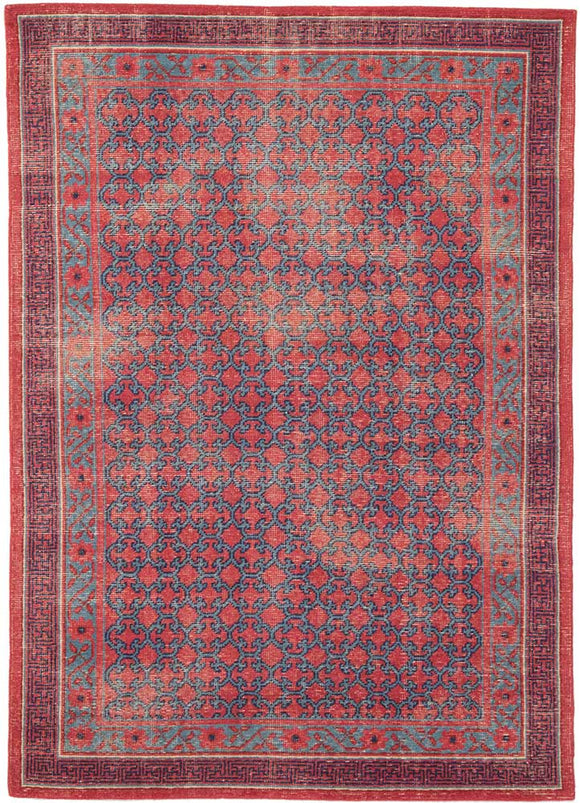 Jaipur Revolution REL04 Hand-Knotted Rug in American Beauty/Ocean Depth - Donna's Home Furnishings in Houston