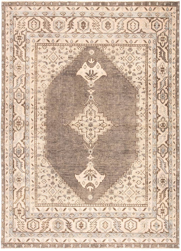 Jaipur Salinas SLN06 Wool Rug in Moon Rock/Parchment - Donna's Home Furnishings in Houston