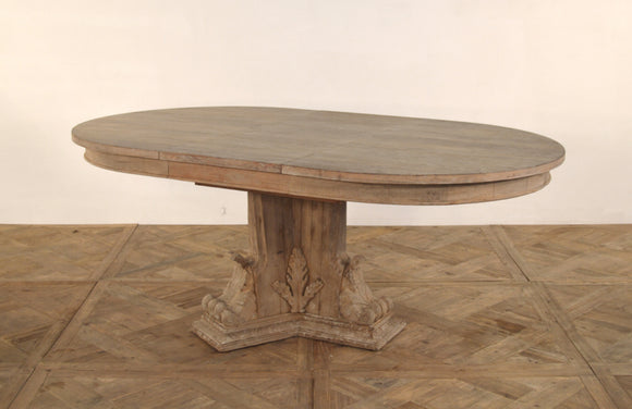 EXTENDED OVAL DINING TABLE