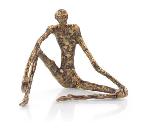 BRONZE SITTING SCULPTURE - Donna's Home Furnishings in Houston