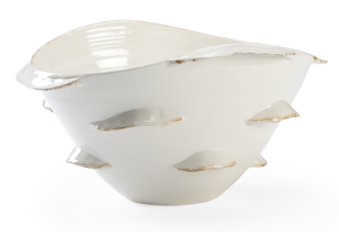 WHITE DECORATIVE BOWL
