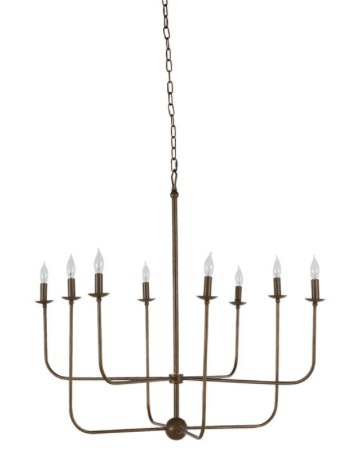 BRUSHED COPPER CHANDELIER