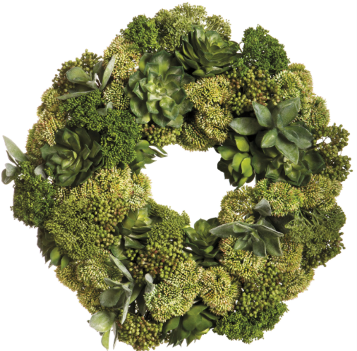 SUCCULENT SEDUM WREATH