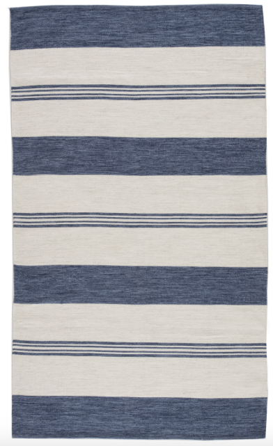 WIDE STRIPE NAVY - 5X8