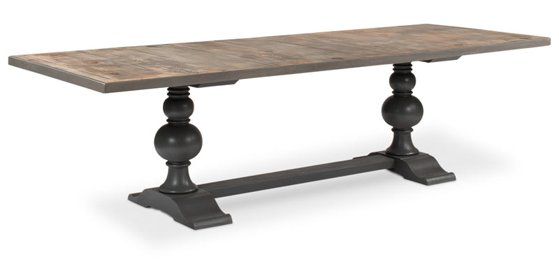 GRAY BASE RECLAIMED DINING TABLE - Donna's Home Furnishings in Houston