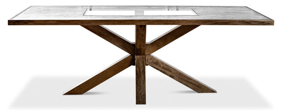 STARBURST TABLE WITH GLASS TOP