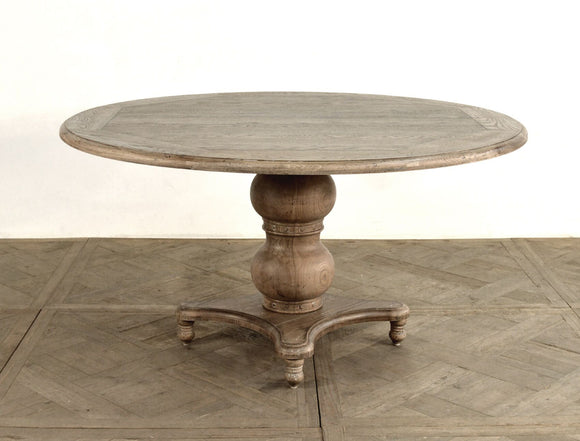 ROUND PEDESTAL DINING TABLE - Donna's Home Furnishings in Houston