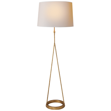 GILDED FLOOR LAMP - Donna's Home Furnishings in Houston