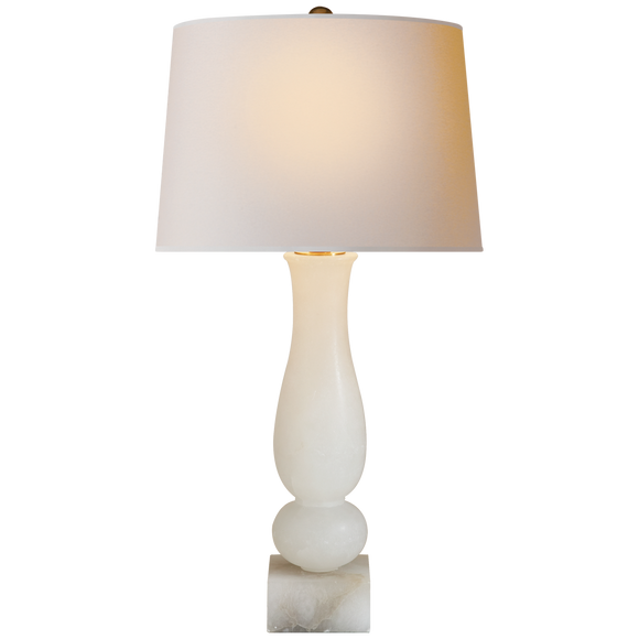 CONTEMPORARY BALUSTRADE ALABASTER TABLE LAMP