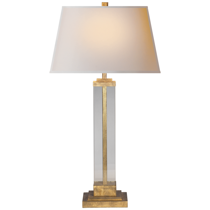 GILDED IRON TABLE LAMP - Donna's Home Furnishings in Houston