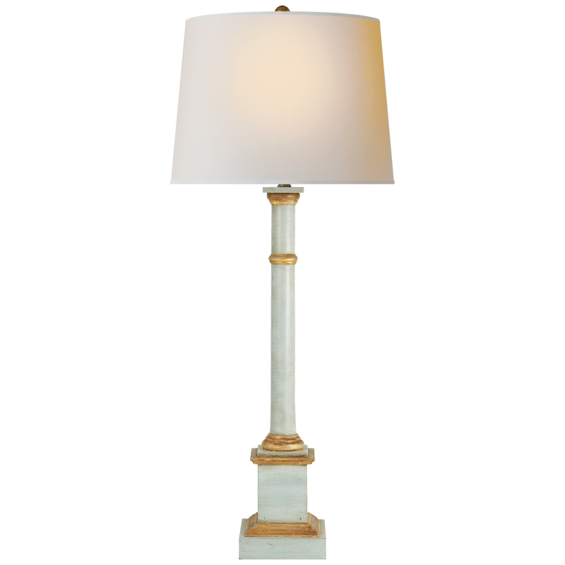 ANTIQUE LIGHT BLUE TABLE LAMP - Donna's Home Furnishings in Houston
