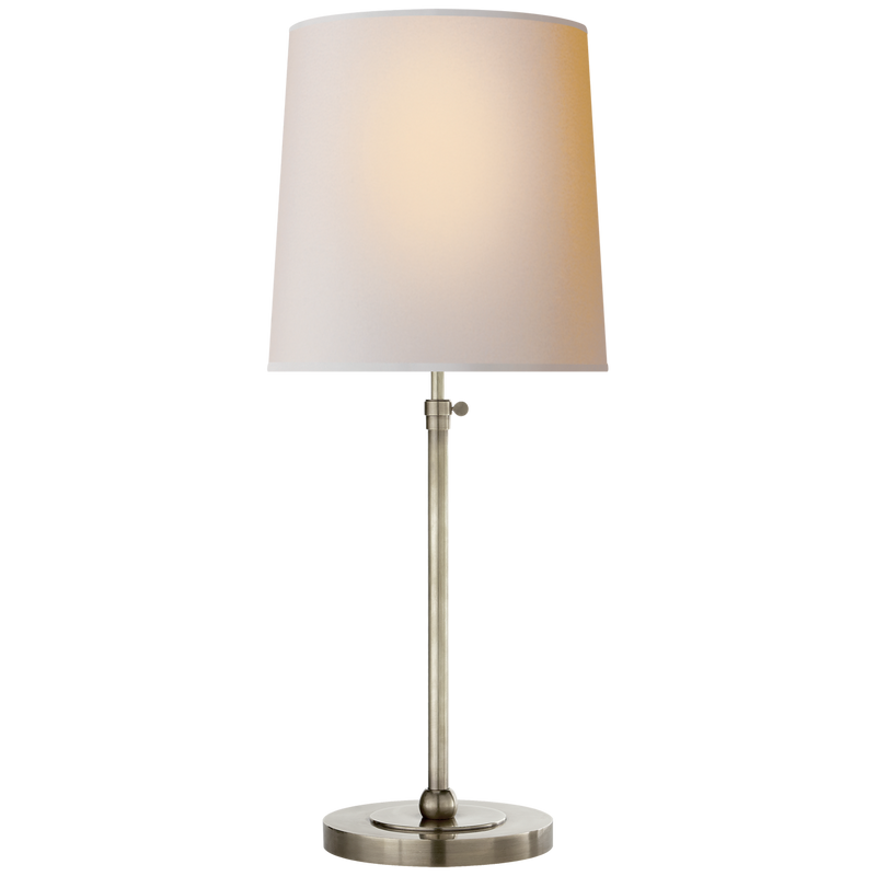 Bryan Large Table Lamp in Antique Nickel - Donna's Home Furnishings in Houston