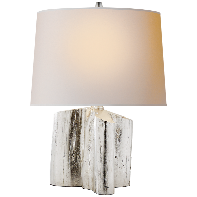 Carmel Table Lamp in Burnished Silver Leaf - Donna's Home Furnishings in Houston