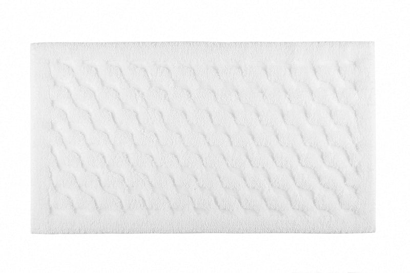 WAVE BATH RUG 20X31 WHITE - Donna's Home Furnishings in Houston