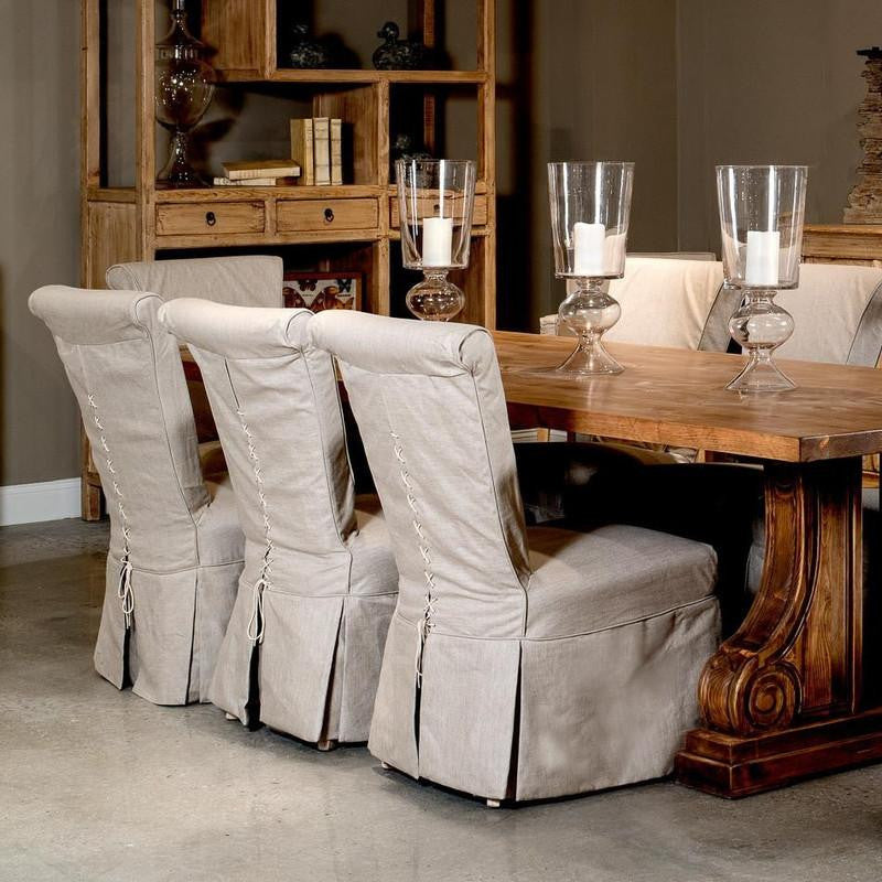 SCROLL BACK SIDE CHAIR (SOLD IN QUANTITIES OF TWO) - Donna's Home Furnishings in Houston