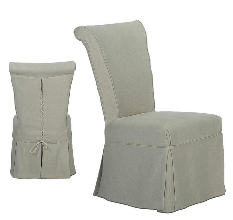 CORSETED SIDE CHAIR - Donna's Home Furnishings in Houston
