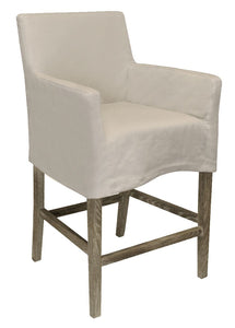 LINEN SLIPCOVERED COUNTER STOOL - Donna's Home Furnishings in Houston