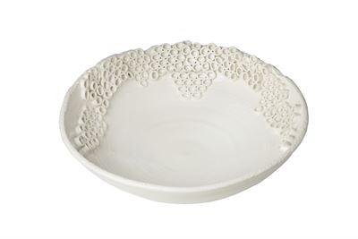 WHITE CERCH BOWL - Donna's Home Furnishings in Houston