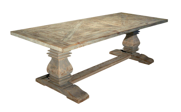 PARQUETE BALUSTER DINING TABLE - Donna's Home Furnishings in Houston