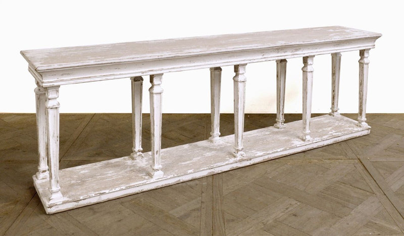 ANTIQUE WHITE CONSOLE - Donna's Home Furnishings in Houston