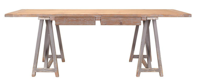SAWBUCK DESK - Donna's Home Furnishings in Houston